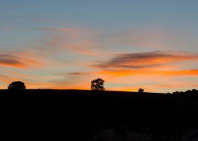 Puesta de sol desde La Fresneda